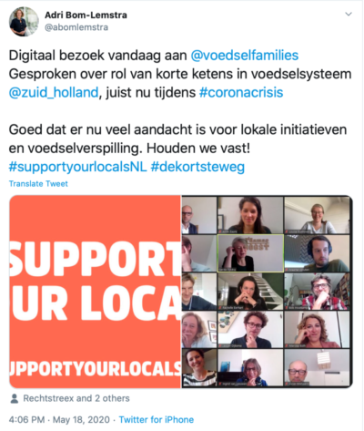 digitaal werkbezoek post support your locals